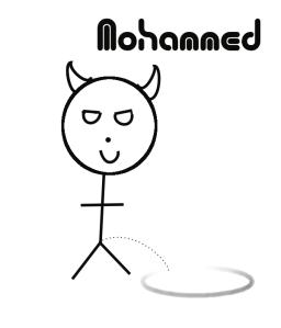 Un dibujo de Mahoma