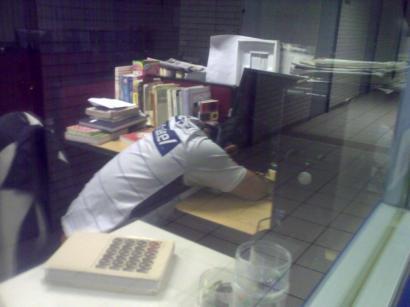 Descansando en horas de oficina